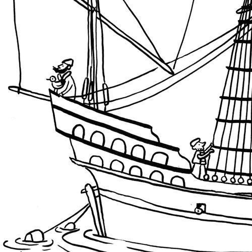 Bateaux à colorier – A.C. Davie