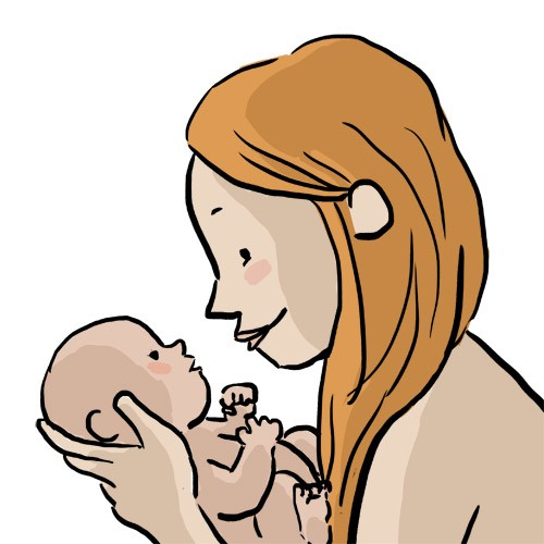 Prenatal illustration – Welcoming newborn baby