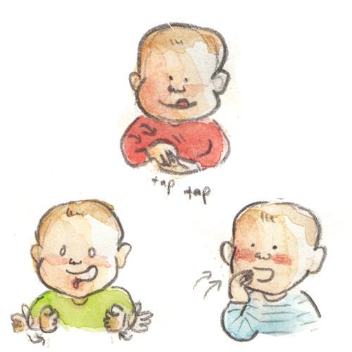 Affiche du langage des signes de bébé