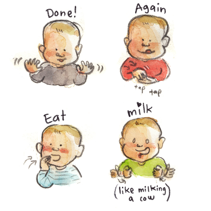 Baby sign Language Poster